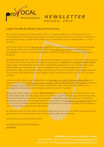 Newsletter proVocal