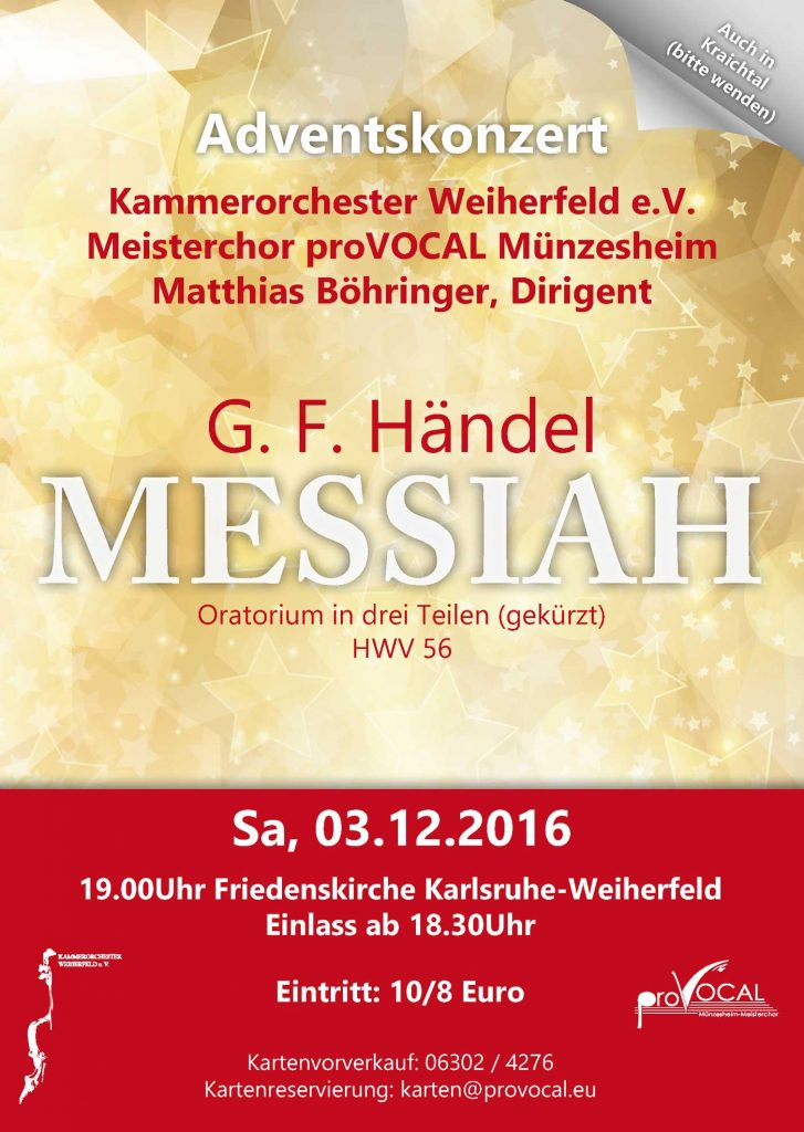 Messiah Karlsruhe proVocal