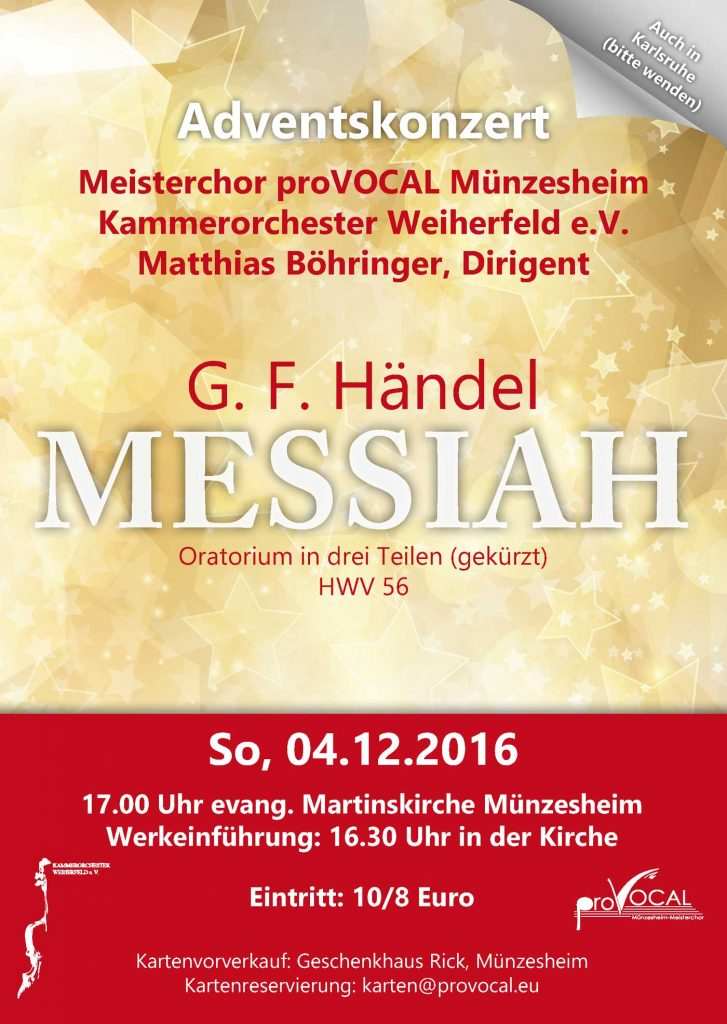 Messiah Kraichtal proVocal