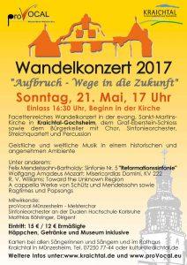Wandelkonzert 21. Mai 2017 Kraichtal