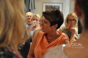 Moderatorin Sonja Faber-Schrecklein bei proVocal